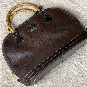 Dooney & Bourke Vintage bamboo ostrich satchel